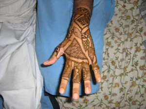 Mehndi Design for Outside Hands