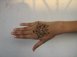 Beautiful Mehndi tattoo design