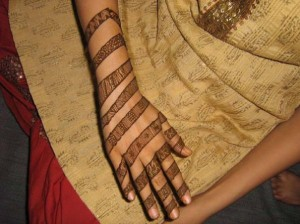 Mehndi Design for Outside Hands