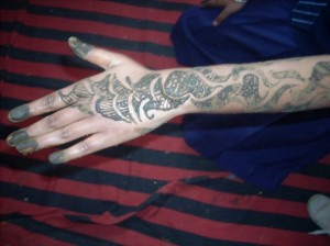 Pakistani Henna Design for Hand