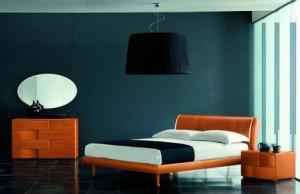 Modern Italian Platform Bed in Cherry