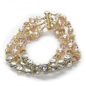 Mothers Gold Charm Bracelet