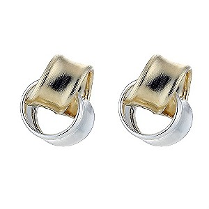 Silver and 9ct Gold Knot Stud Earrings