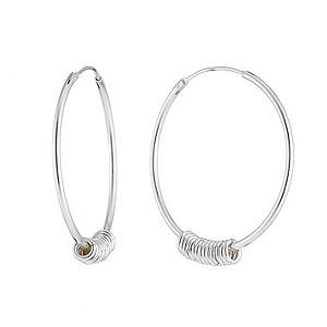 Sterling Silver Candy Hoop Earrings