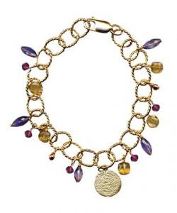 Stone and Santorini Coin Bracelet