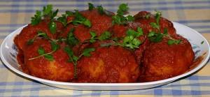 Stuffed Mutton Potatos