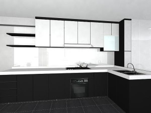 Stylish Black Kitchen for Luxury Interior Design Ideas