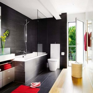 Stylish black bathroom decoration ideas