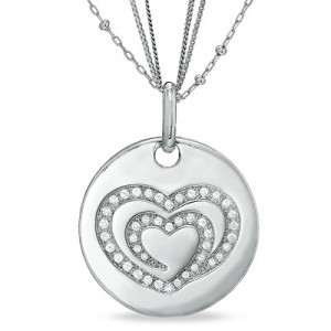 The Shared Heart® 1-3 CT. T.W. Diamond Medallion in Sterling Silver