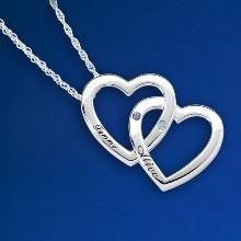 Two Hearts Intertwined Necklace