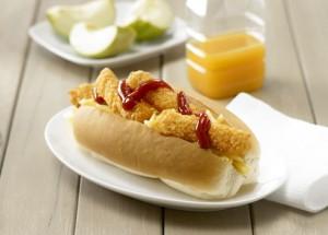 chick goujon hotdog
