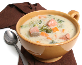 salmon sweetpotato broccoli