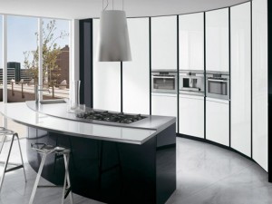 stylish black kitchen cabinet for modern home design