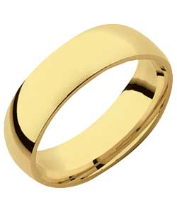 9ct Gold Court Shape Wedding Ring - 6mm