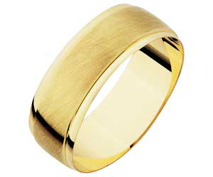 9ct Gold Satin Finish Wedding Ring