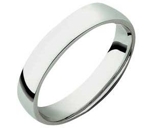 9ct White Gold Court Wedding Ring