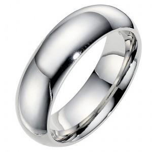 Cobalt men's 7mm polished wedding ring