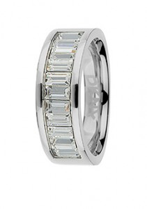 DKNY Glamour Silver and White Cubic Zirconia Ring