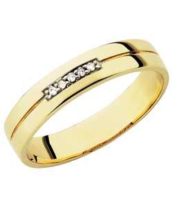 Gold 'I Love You' Diamond Set Wedding Ring