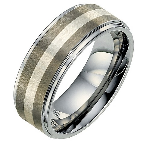 Silver Wedding Rings   on Men S Tungsten   Silver Wedding Ring