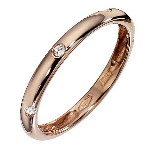 Rose Gold Cubic Zirconia Band Ring
