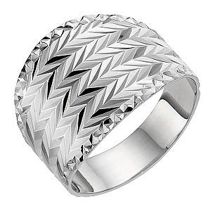 Silver Diamond Cut Ring