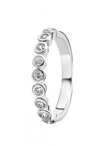 Ti Sento Silver Cubic Zirconia Eternity Ring