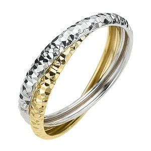 Two Colour Gold Russian Wedding Ring