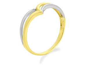 Two Colour Gold Wishbone Ring