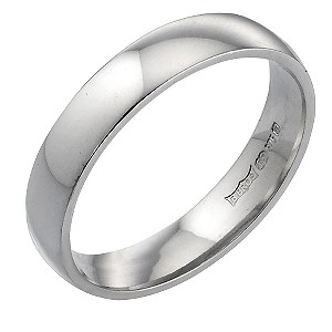 White Gold 4mm Wedding Ring