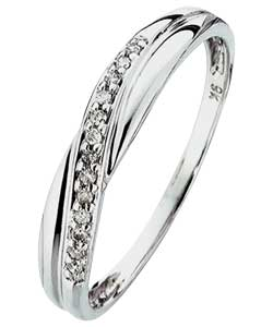 White Gold Crossover Eternity Ring