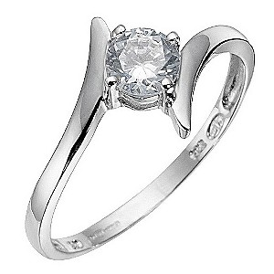 White Gold Cubic Zirconia Ring