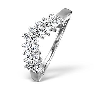 White Gold H-Si Diamond Wishbone Ring