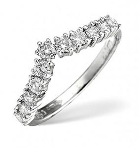 Wishbone Ring 0.67CT Diamond Platinum