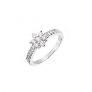 white gold half carat diamond cluster ring