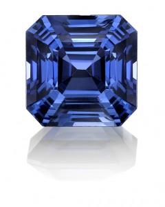 Asscher Kashmir Blue Sapphire