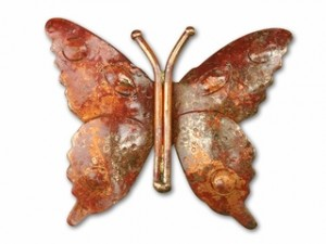 Copper Large Butterfly Pendant