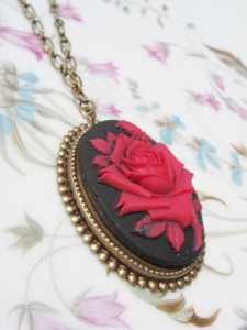 Rose Cameo - Vintage Inspired Cameo Necklace