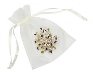 pearl gemstone brooch