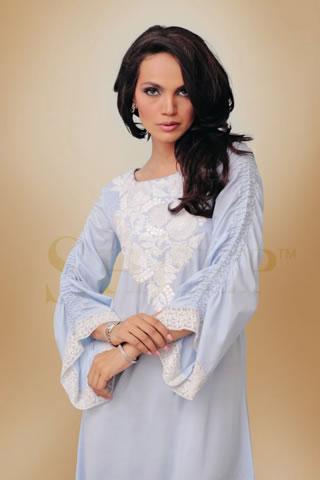 Amina Sheikh in Blue Dress by Sheep