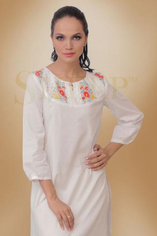 Amina Sheikh in White Eid Dress