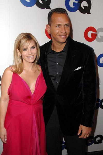 Alex Rodriguez With Wife