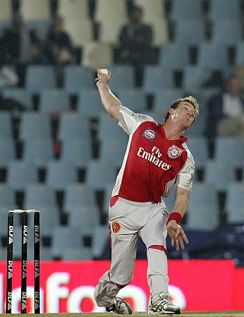 Australian Bowler Brett Lee in IPL