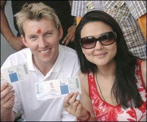 Brett Lee & Preity Zinta