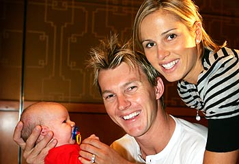 Brett Lee with Wife and Son