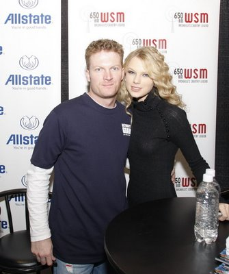 Dale Earnhardt Jr and Taylor Swift