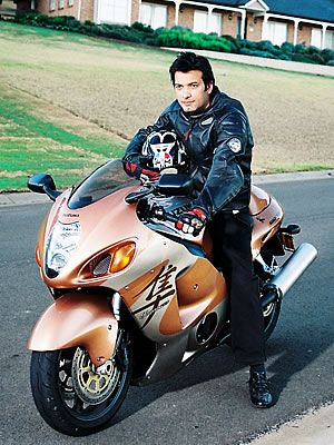 Saleem Sheikh on Bike
