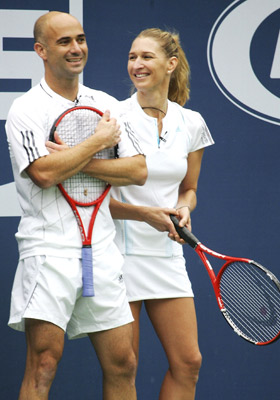 Steffi Graf with Husband Andre Agassi