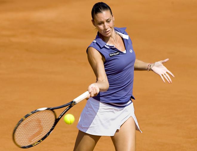 Italian tennis player Flabia Pennetta