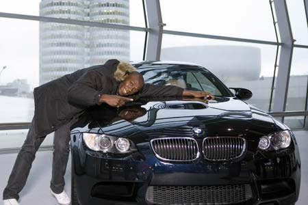 Usain Bolt with BMW M3